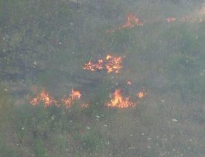 Orman işçisi yarasını sarıp, yangınla mücadeleye devam etti