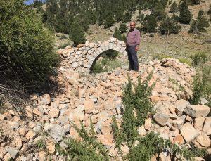 (ÖZEL) Tarihi Nodar Han ve hana ait kemerli kuyu define avcıları tarafından talan edildi