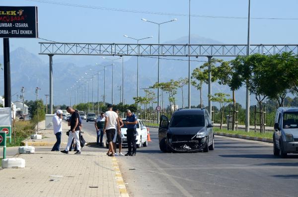 Serik'te kaza: 1 yaralı