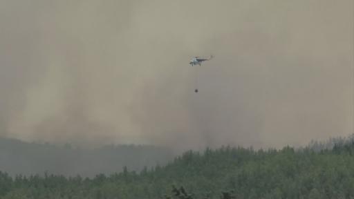 Taşağıl bölgesinde yangın devam ediyor