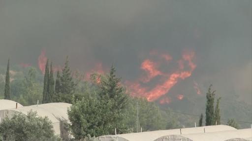 Taşağıl bölgesindeki yangın büyüyor