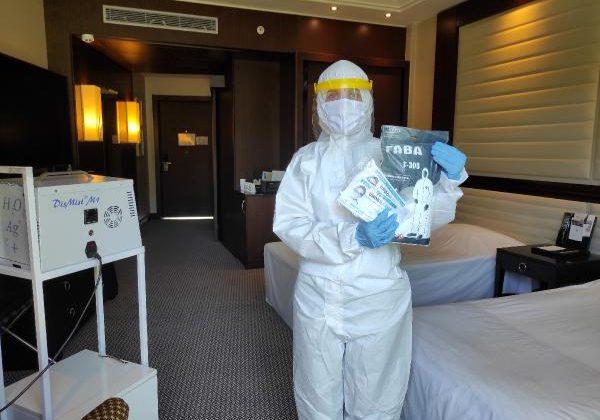 Testi pozitif çıkan tatilciye konforlu karantina odası