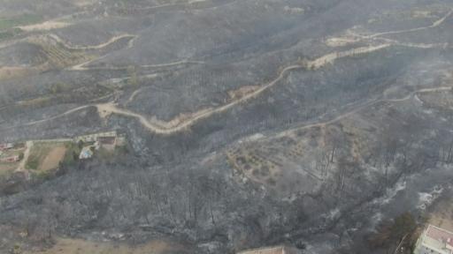 Yangın felaketinin boyutu gün ağarınca ortaya çıktı