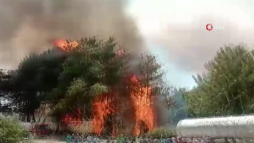 Yangın paniği…Vatandaşlar yangından böyle kaçtı
