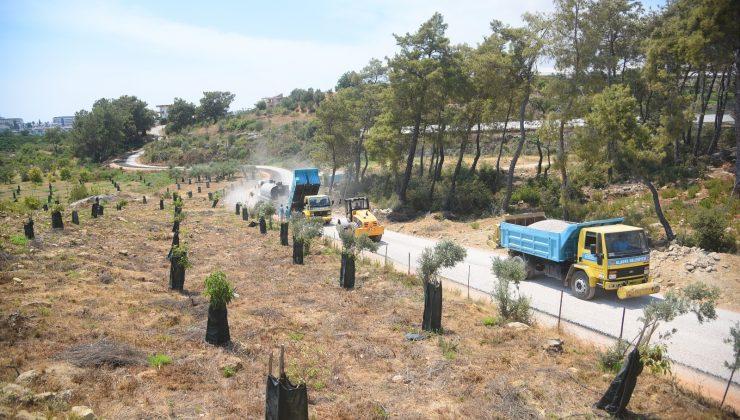 Alanya Belediyesi'nden batı mahallerine asfalt çalışması