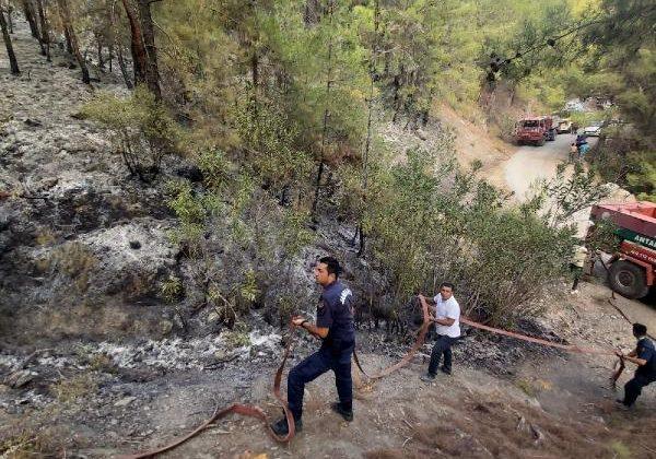 Alanya'da 18 saatlik orman yangınında 8 hektar alan yandı