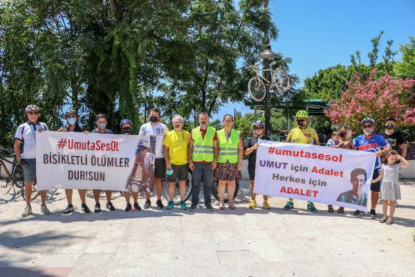 Alkollü sürücünün çarptığı Umut'un ailesi Antalya'da bisikletlilerle buluştu