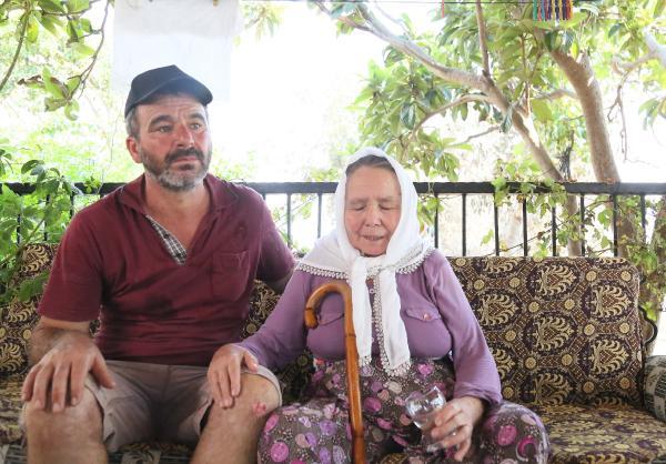 Annesini 600 metre sırtında taşıyıp yangından kurtardı