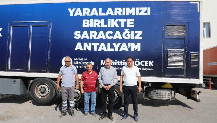 Antalya'dan Kastamonu'ya arama kurtarma ekibi ve yardım tırı
