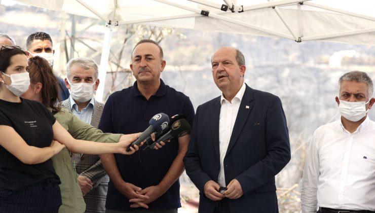 """Bakan Çavuşoğlu: """"Yangınla mücadelede en büyük engelimiz rüzgar"""""""