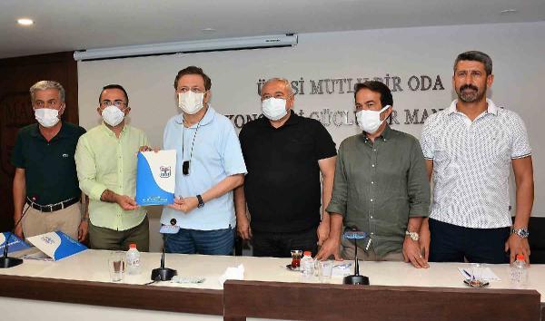 Başkan Güngör, Hisarcıklıoğlu'na yangınla ilgili dosya sundu