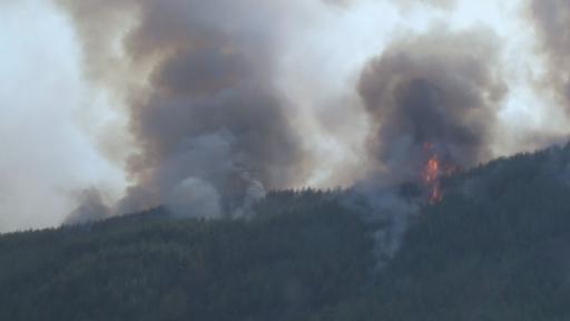 Bucak'ta yangının ilerleyişi devam ediyor