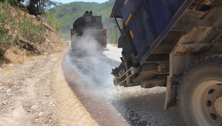 Büyükşehirden Karacaören ve Yenikışla grup yoluna asfalt