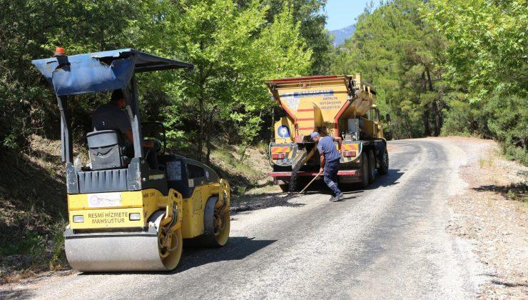 Büyükşehirden kırsal yollarda,  bakım ve onarım çalışması