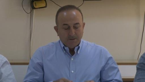 """Dışişleri Bakanı Mevlüt Çavuşoğlu: """"Yangından etkilenen mahalle sayısı 59, etkilenen bina sayısı 3 bin 231 olarak tespit edilmiştir"""""""