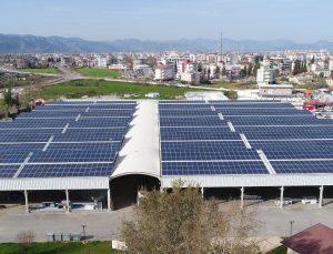 Döşemealtı Belediyesi, güneşten elektrik ihtiyacının yüzde 65'ini karşıladı