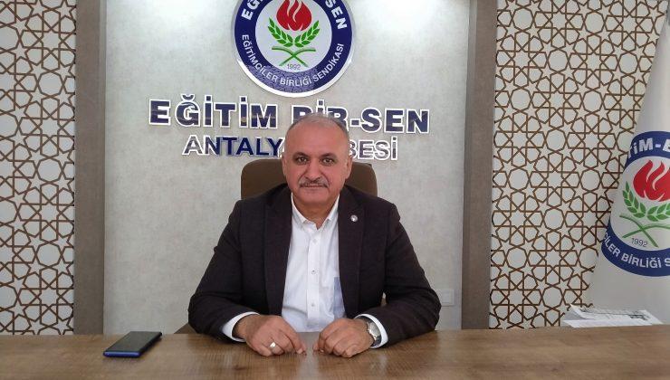 """Eğitim Bir-Sen Antalya Şube Başkanı Miran: """"Müzakere edilebilir bir teklif bekliyoruz"""""""
