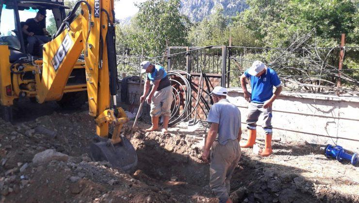 İbradı Ormana'da yaşanan içme suyu problemi çözüldü