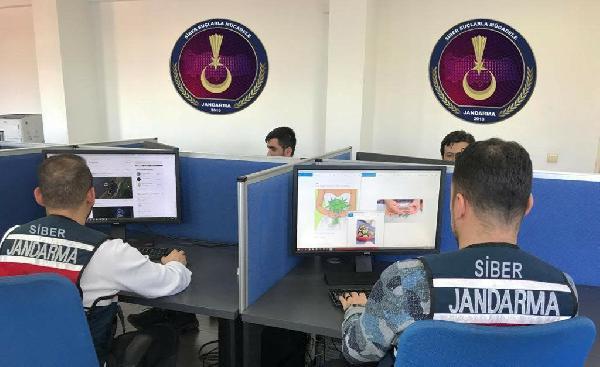 Jandarma'nın 66 kişi ve 17 web sitesi hakkında işlem
