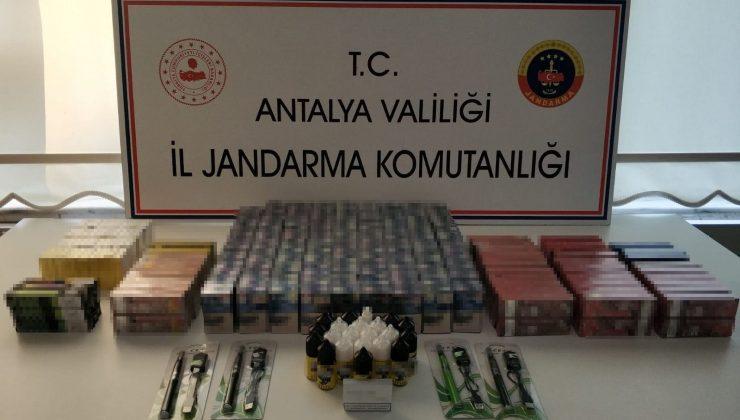 Kemer'de kaçak sigara operasyonu: 1 gözaltı