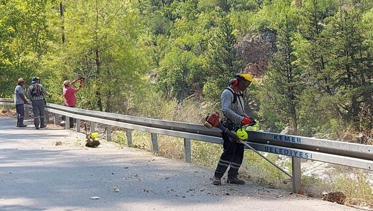 Kemer'de yangın ihtimaline karşı önlemler alınıyor