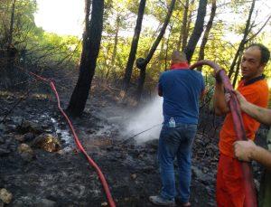 Kemer'deki yangını duyan ekiplere yardım için seferber oldu
