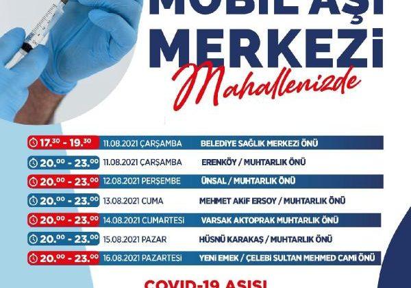 Kepez'den Covid-19 aşı kampanyasına destek