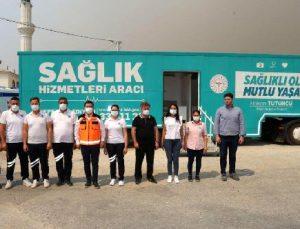 Kepez'in 'Gezici Sağlık Merkezi' Manavgat'ta