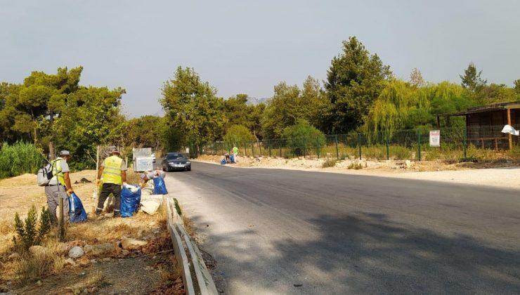 Kepez'in ormanlarında çevre temizliği