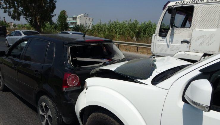 Kırmızı ışıkta zincirleme kaza: 1 yaralı