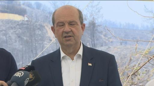 KKTC Cumhurbaşkanı Ersin Tatar Bakan Çavuşoğlu ile bir araya geldi