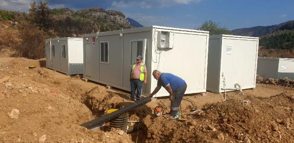 Konteyner evlerin alt yapı çalışması tamamlandı