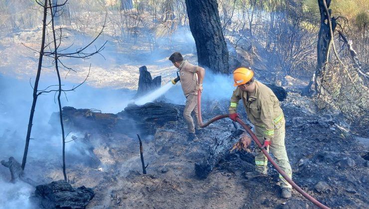 Kumluca'da çıkan orman yangını söndürüldü