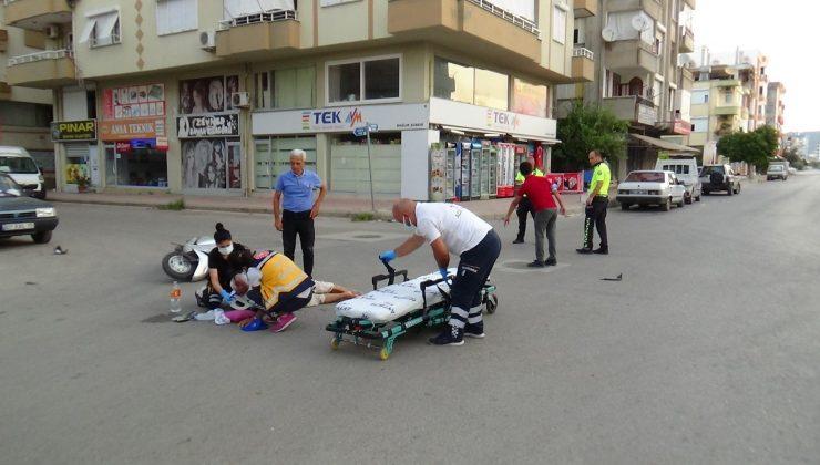 Kumluca'da otomobil motosiklete çarptı: 1 ağır yaralı