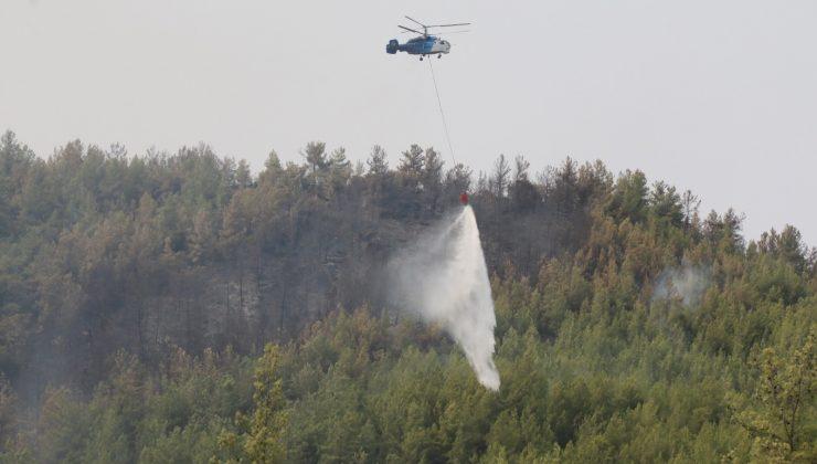 Manavagat'ta orman yangını 6'ncı gününde devam ediyor