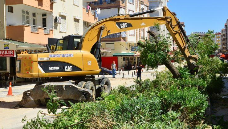 Manavgat Belediyesi'nden cadde düzenlemesi