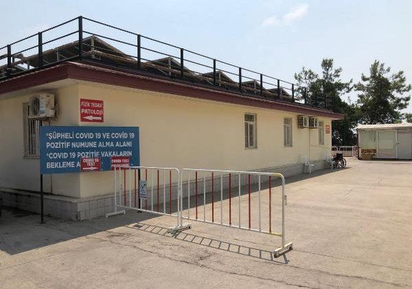 Manavgat Devlet Hastanesi'nde Covid numune alma birimi yenilendi