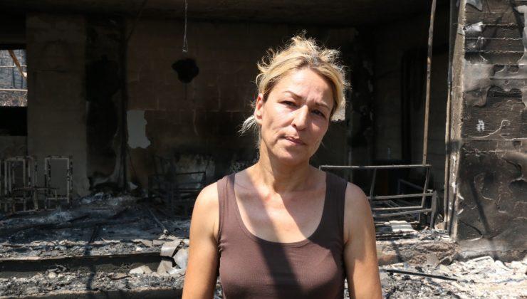 """Manavgat yangınında çiftliği küle dönen kadın: """"Cehennemi yaşadım"""""""