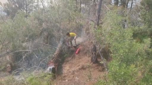 Manavgat'ta başlayan yangın yerleşim yerlerini tehdit ediyor