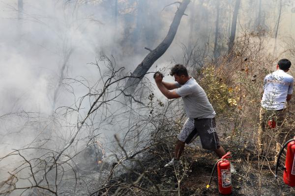 Manavgat'ta orman yangını (2)