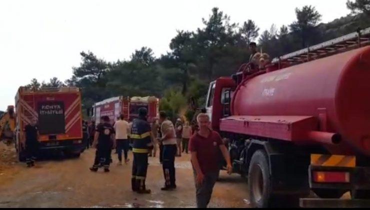 Manavgat'ta yükselen alevler köyü boşalttı