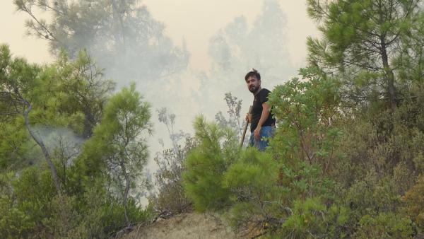 Manavgat'taki büyük yangın 5'inci gününde (3)