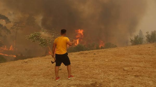 Manavgat'taki büyük yangın 6'ncı gününde (10)