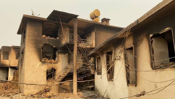 Manavgat'taki büyük yangın 6'ncı gününde (3)