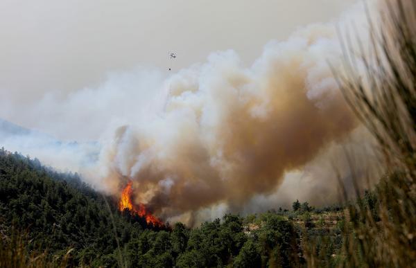 Manavgat'taki büyük yangın 6'ncı gününde / Ek fotoğraf