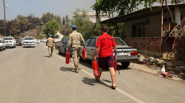 Manavgat'taki büyük yangın 7'nci gününde (6)