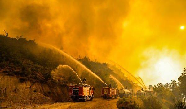 Manavgat'taki büyük yangın 7'nci gününde/ Ek fotoğraflar