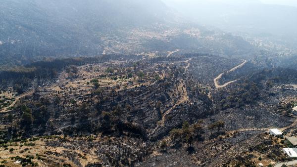 Manavgat'taki büyük yangın 8'inci gününde/ Ek fotoğraflar