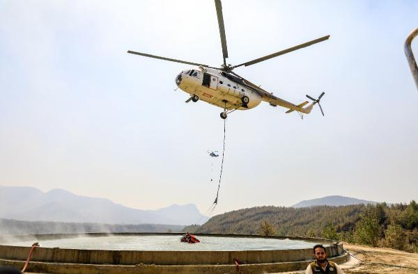 Manavgat'taki büyük yangın 9'uncu gününde (5)