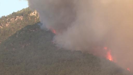 Manavgat'taki orman yangını 6'ncı gününde devam ediyor